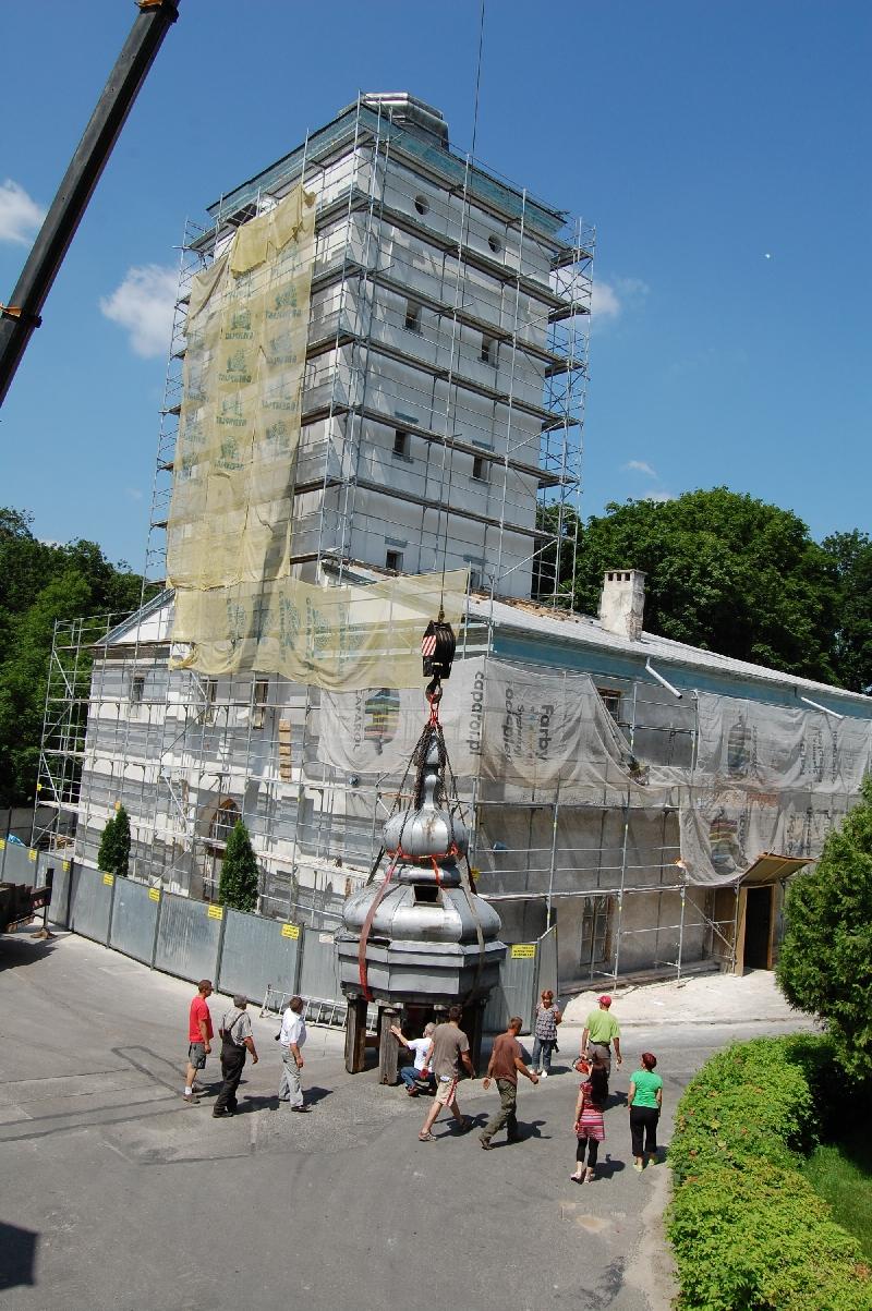 Remont Muzeum Południowego Podlasia w Białej Podlaskiej. Remont wieży.