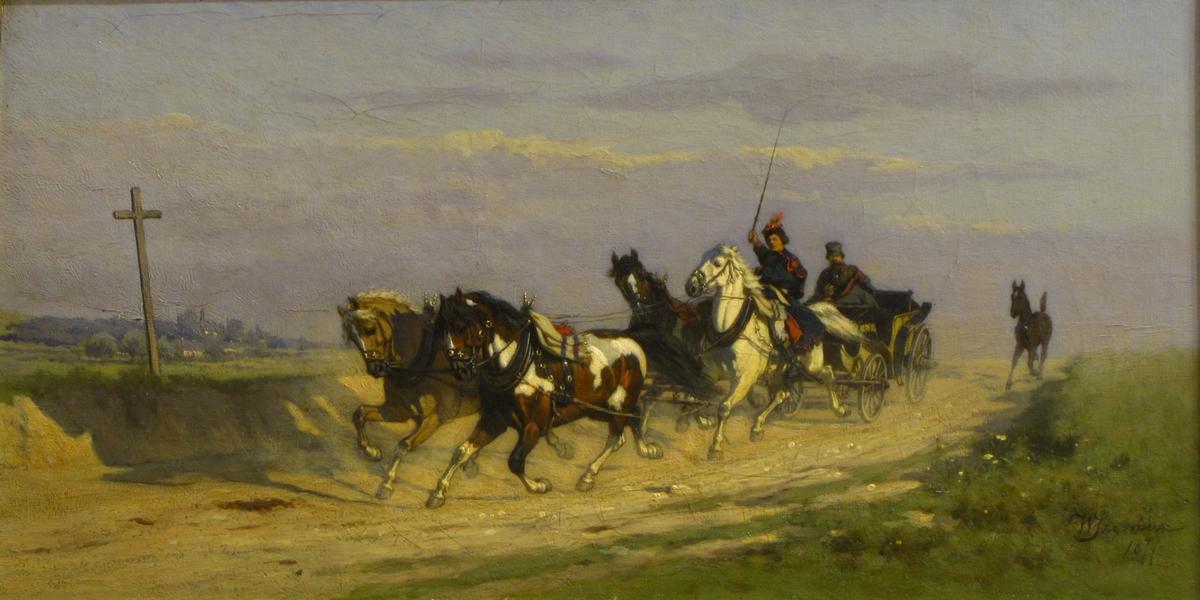 """Władysław Szerner (ojciec) """"Czwórka krakowska"""", 1877 Obraz zakupiony w2016 r. zdofinansowania MKiDN"""