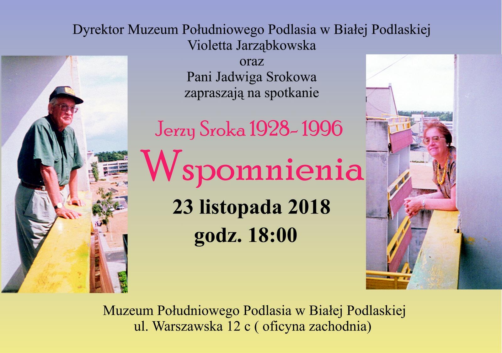 Wspomnienia – spotkanie zJadwigą Srokową