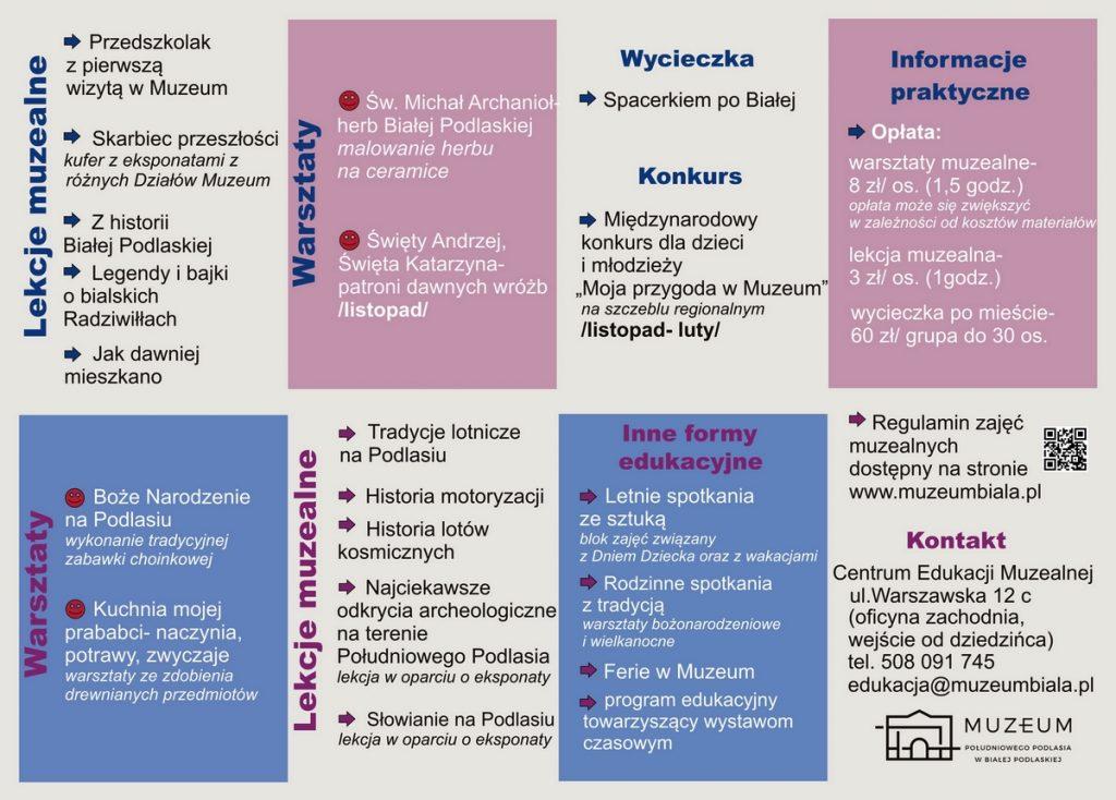 Oferta edukacyjna Muzeum narok szkolny 2019/2020 -przedszkola