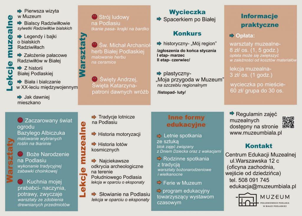 Oferta edukacyjna Muzeum narok szkolny 2019/2020 - szkoły
