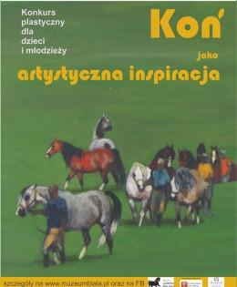 Konkurs plastyczny dla dzieci imłodzieży.  Koń jako artystyczna inspiracja